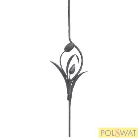 korlátpálca kovácsolt tulipán 950x275 Ø14mm