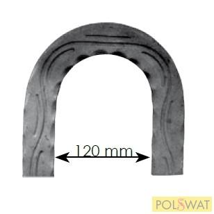 kovácsoltvas korlát visszafordító hullám minta 200x200 40x8mm