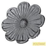kovácsolt virág díszelem szimpla Ø95x5mm