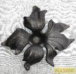 kovácsolt virág díszelem szimpla 160x160mm