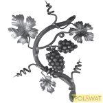 szőlőág jobb nagy rozetta tüzikovácsolt 450x380mm