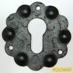 zártakaró díszelem kulcslyukhoz Ø65x2mm festett fekete