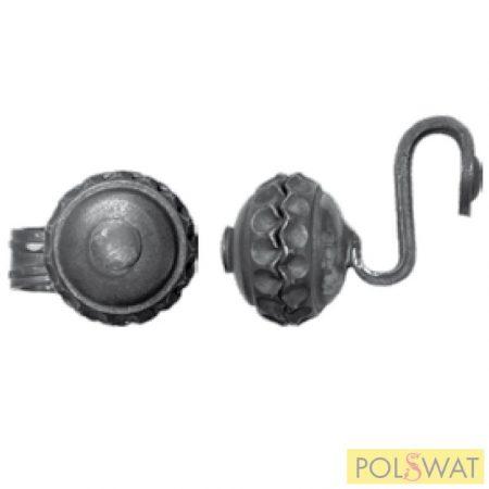 kovácsoltvas gomb fogantyú ajtóbehúzó 40x110 Ø68