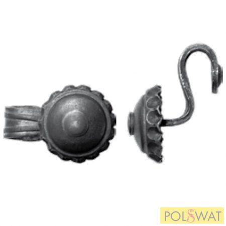 kovácsoltvas gomb fogantyú ajtóbehúzó 45x85 Ø68