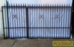 kovácsoltvas kapu Lagertha 3,3x1,5 festett, kérésre egyedi méretben is