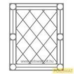 ablakrács angol gotikus 120x150 bármilyen méretet legyártunk