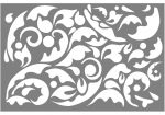 lézervágott panel 1200x800x2 natur acél