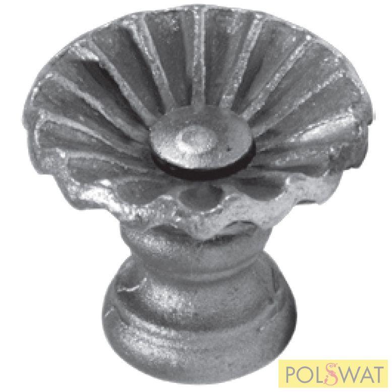 (kilincs) kovácsoltvas gomb fogantyú/ajtóbehúzó 65 x O70