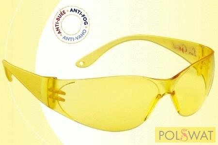 Lux Optical Pokelux munkavédelmi szemüveg sárga lencse karcmentes páramentes 60556