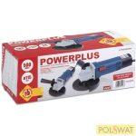 PowerPlus kék sarokcsiszoló 115 500 W POW204 + UNICO vágókorong 115x1,0