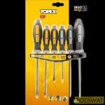 Topex csavarhúzó készlet 6 részes mágneses - edzett