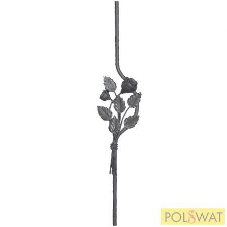 korlátpálca kovácsolt rózsa 950x90 12x12mm akció a készlet erejéig