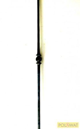 kovácsolt korlátpálca egybabás sima anyagból magasság: 950 12x12mm (rendelésre)