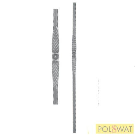 kovácsoltvas kezdőoszlop mángorolt magasság: 1200mm 25x25mm