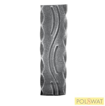 kovácsoltvas mángorolt laposvas hullám minta 40x8x3000mm