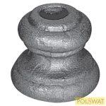 pálcára húzható kovácsolt oszlopdísz 39x40 lyuk: Ø12,5mm