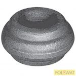 pálcára húzható kovácsolt oszlopdísz 22x40 lyuk: Ø14,5mm