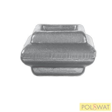 pálcára húzható kovácsolt oszlopdísz 35x55 lyuk: 20,5x20,5mm