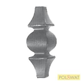 kovácsolt oszlopdísz hegeszthető 90x30 vég: 12-14x12-14mm