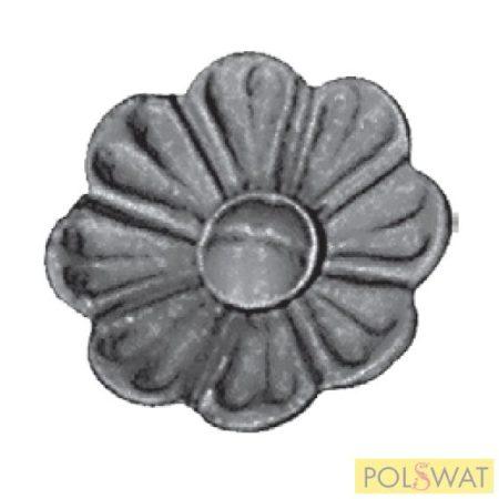 kovácsolt virág díszelem szimpla Ø62x4mm