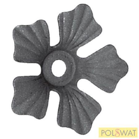 kovácsolt virág díszelem szimpla Ø86x2mm
