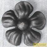 kovácsolt virág díszelem kicsi Ø90mm