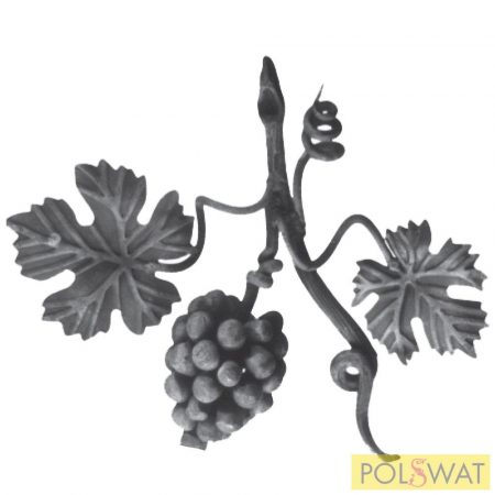 kovácsoltvas szőlőág bal kicsi 250x300mm