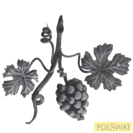 kovácsoltvas szőlőág jobb kicsi 250x300mm