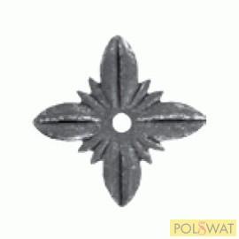 kovácsolt virág díszelem csillag kicsi 60x1,5mm