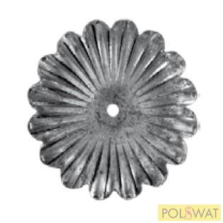 kovácsolt virág díszelem Ø115x4mm