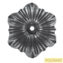 kovácsolt virág díszelem Ø120x4mm