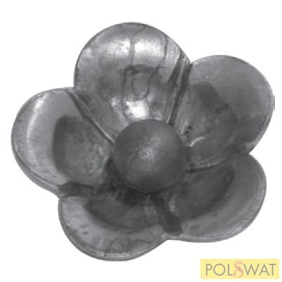 kovácsolt virág díszelem Ø50mm