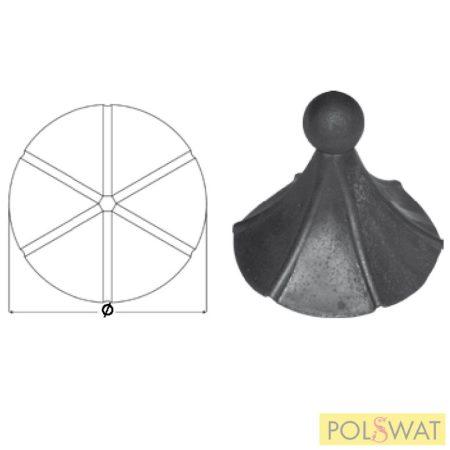 kovácsoltvas lámpatető madáretető tető  Ø155x145mm Már nem rendelhető!
