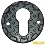 zártakaró díszelem kulcslyukhoz Ø50x2mm festett fekete