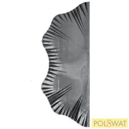 kovácsolt zártakaró pajzs szimmetrikus 285x105x5