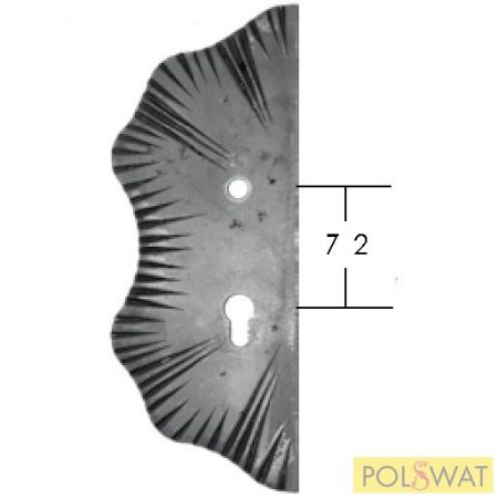 kovácsolt zártakaró díszelem bal 285x105x5 lyuktáv: 72mm