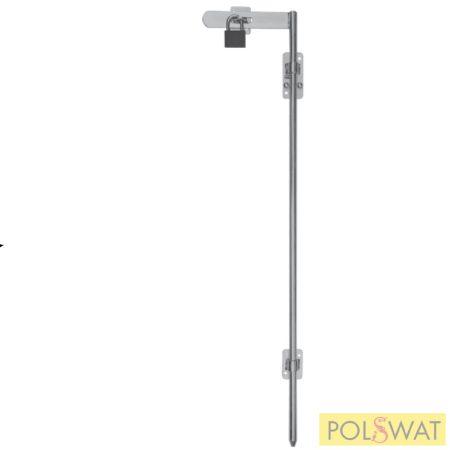 retesz (tolózár) galvanizált Ø14 hossz: 800mm lakatolható csavarozható