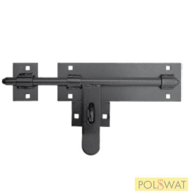retesz (tolózár) fekete Ø16 hossz: 340mm lakatolható csavarozható KIFUTÓ helyette 15_473_02
