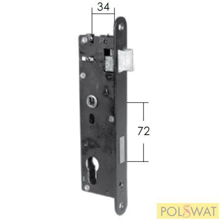 zár Metalik ZW1 72/34 60x40-es vagy 50x30-as zárdobozba