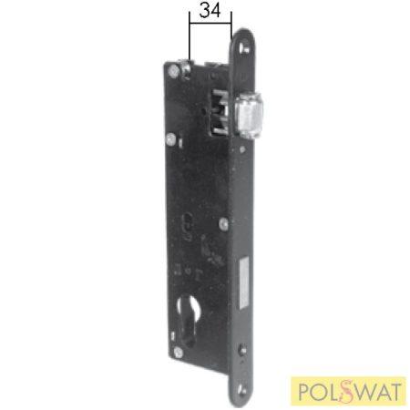 zár 220mm hengernyelv kilincs nélküli működtetéshez 50x30 és 60x40-es zárdobozba