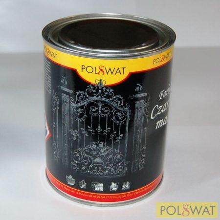 matt fekete festék 0,8L alapozó+fedő egyben poliviniles