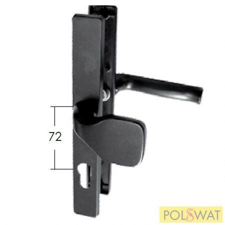 kilincs + ajtó behúzó címkével 30x240 A72mm