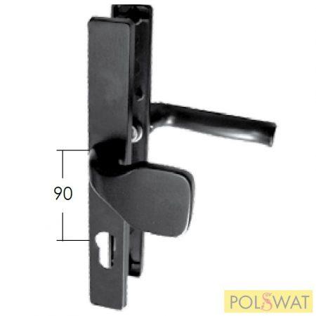kilincs + ajtó behúzó címkével 30x240 A90mm