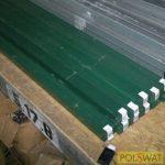 oszlop ponthegesztett hálós panelhez 60x40 - 2m Ral6005 zöld akció a készlet erejéig