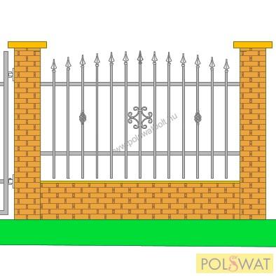 kovácsoltvas kerítés Zeusz 2méter x 1,3méter! Legyártjuk egyedi méretben is!