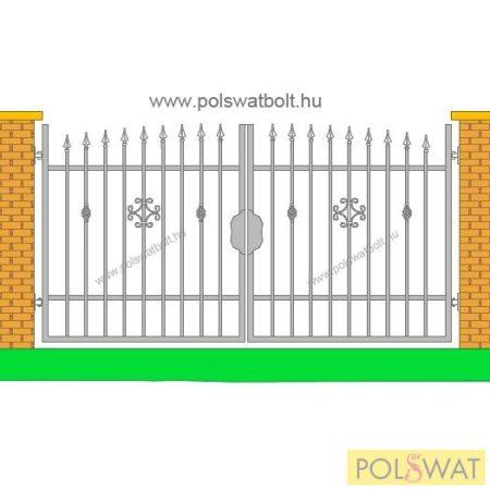 kovácsoltvas kétszárnyas kapu Zeusz 3méter x 1,6méter festetlen! Pár nap alatt legyártjuk egyedi méretben is!