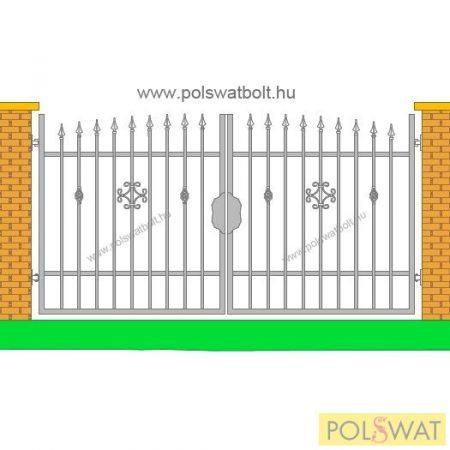 kovácsoltvas kétszárnyas kapu Zeusz 3méter x 1,6méter festetlen, legyártjuk egyedi méretben is!