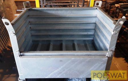 Horganyzott acélkonténer, tárolókonténer, alkatrész tároló