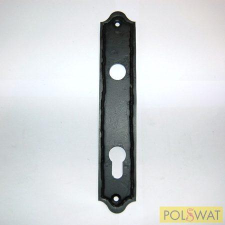 zárcimke 40x220mm kilincs-kulcslyuk táv 90 festett fekete