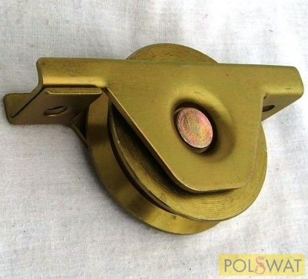tolókapu görgő ᴓ80 V-profil beépítő villával